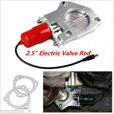 "Red 2.5"" Car Auto Motor E-Cut Out Valve Electric Exhaust Catback Downpipe System"
