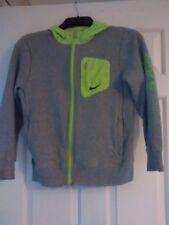 Girls Nike grey/green hooded zipper jacket age 12-13 years