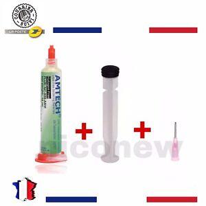 FLUX DE SOUDURE AMTECH BGA PCB 10CC NC-559-ASM + AIGUILLE ET PISTON