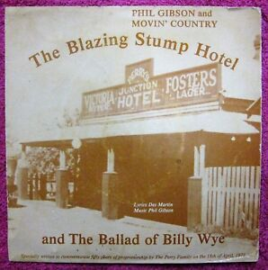 Indie Label- Phil Gibson & Movin' Country THE BLAZING STUMP HOTEL- OZ 1979 RARE!