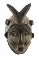 Antique Mask African Idjo Nigeria Art Tribale Primitive 16894