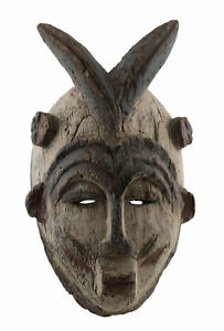 Antique Mask African Idjo Nigeria Art Tribale Primitive 16894