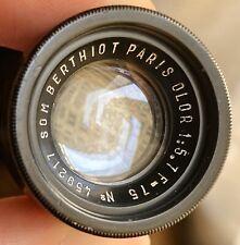 SOM BERTHIOT PARIS OLOR 75mm F5.7(FAMILLE ANGENIEUX, KINOPTIK, BOYER, OPTIS)