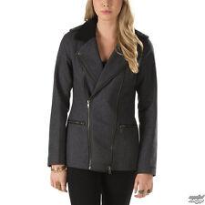 NEW Vans WOMEN'S S SM PIKE Jacket BLACK GREY PARKA COAT JACK NWT $128 MOTO STYLE