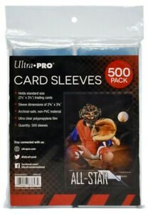 Ultra Pro Trading Card Penny Sleeves 500ct pack 83647
