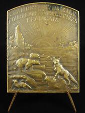 Médaille peaux Ours Renard Fourreur Pelletier Gisèle Simon 1934 furriers Medal
