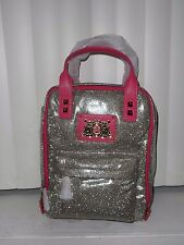 Juicy Couture Bright Diamond Silver Metallic Tweed Girls' Backpack Nwt Xaruh295