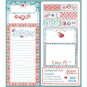 Susan Branch Notepad Set Bright 360-Sheet Set
