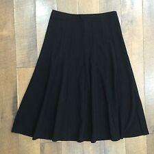 New LARRY LEVINE Black Skirt Stretch Fabric Back Zip Machine Wash Womens 8 NWT