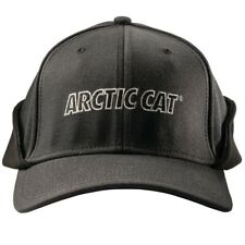 Arctic Cat Fleece Lined Earflap Fitted Cap Two Postion Flap Black 5263-103-104