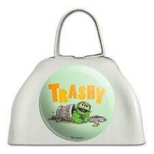 Sesame Street Trashy Oscar the Grouch White Metal Cowbell Cow Bell Instrument