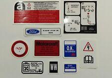 Escort RS Turbo S2 Engine Bay Decal set - sticker set RST