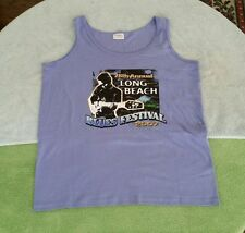 2007 Long Beach Blues Festival Purple Tank Top Shirt Size  L  Little Richard