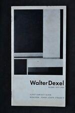WALTER DEXEL BILDER 1917-30 EXHIBITION CATALOGUE KUNST KABINETT KLIHM MUCHEN