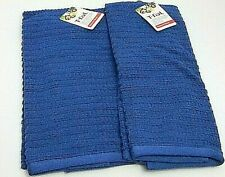 2 Pack T-Fal Solid Waffle Terry Kitchen Towel 100 % Cotton Blue