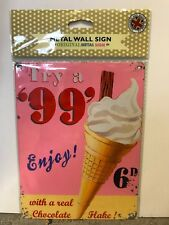99 Ice Cream Enjoy - SMALL - Tin Metal Wall Sign *Top 100*