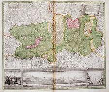 c1720 Österreich Kärnten Klagenfurt Kolorierte Kupferstich-Landkarte Homann