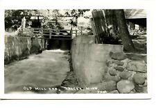 Bridge over Water-Old Mill Inn-Spicer-Minnesota-RPPC-Vintage Real Photo Postcard