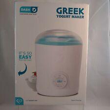 DASH Greek Yogurt Maker Machine Electric Healthy Easy To make Recipes Included