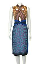 MISSONI Multi-colored Knit Dress with Keyhole Openings SIZE 6
