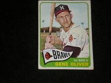 GENE OLIVER 1965 TOPPS SIGNED AUTOGRAPHED CARD #106 BRAVES DEC.