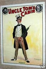 "1890'S LITHOGRAPH POSTER, UNCLE TOM'S CABIN ""MARKS"" POSTER, H. B. STOWE, RARE!"