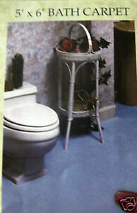BURGUNDY CUT-TO-FIT WALL TO WALL BATHROOM CARPET-RUGS-SIZE=5 X 8--A TOP BUY---Y