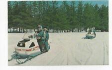 Vintage Snowmobiling Postcard (POLARIS SNOWMOBILES)