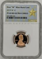 2019 W NGC PF69 Ultra Cameo Lincoln Shield Cent - West Point Mint