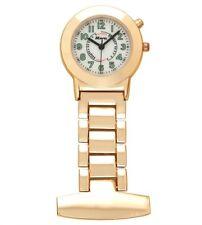 Reloj Fob Enfermera esteticistas Oro Rosa brillan en la oscuridad Retroiluminación Ravel F154