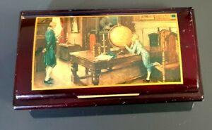 Alte Spieldose Holz Kästchen Schmuckkästchen Klassisches Motiv
