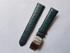 Uhrenband Herren echt Leder 20mm mit Faltschließe Graublau