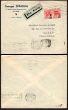 Algeria #131 (pr) Air Mail to France February 20 1940 Alger Garb