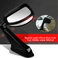 1x Car SUV Left Side Hood Blind Spot Mirror Panoramic Lens Clip On Rear Rearview