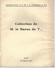 Catalogue vente Collection Baron de T. Nice var Tableau impressionniste Corot...