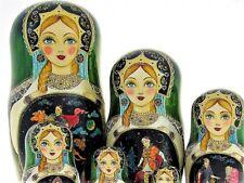 10 Poupées russes H26cm exclusive Palekh peint main signé Matriochka Nested Doll