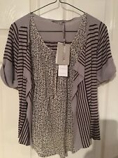Kookai  top with attached cardigan, size 0 (UK 4) BNWT rrp £52