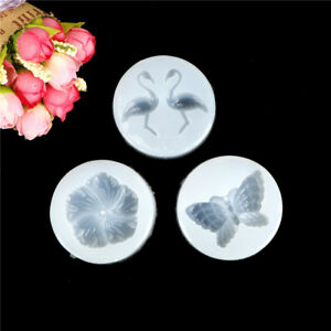 DIY Silicone flamingo flower butterfly Mold Making Jewelry Pendant Resin MoFRFR