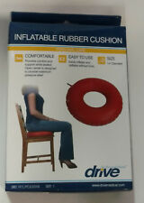 Drive Medical Inflatable Rubber Cushion, Red