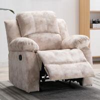 Air Velvet Recliner chair Overstuffed Heavy Duty Living Room Sofa Padded Armrest