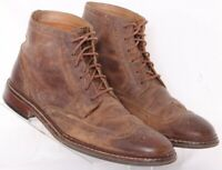 Cole Haan C20291 Brown Leather Distressed Wingtip Chukka Boots Men's US 9.5M
