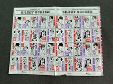 Stars of the Silent Screen 29 Cent US Stamp Set - 1993