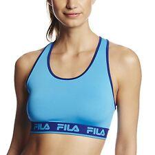FILA Logo Elastic Sports Bra ~ NWT ~ Small ~ Ocean Blue/Twighlight ~ MSRP $45