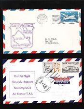 1st Jet Service Hawaii Honolulu to Tahiti & Alaska 4 COVER COLLECTION 5v
