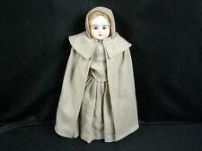 """Antique Bisque Character Cabinet Doll Shaker (Quaker) Alt, Beck & Gottschalk 14"""""""