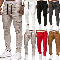 Men's Gym Slim Fit Jogger Urban Straight Leg Trousers Cargo Casual Pencil Pants