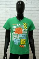 Maglia ADIDAS Uomo Taglia Size S Maglietta Shirt Man Manica Corta Cotone Verde