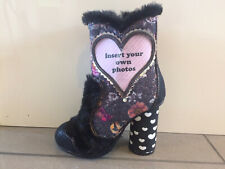 Irregular Choice 'Picture perfect' (B) Black Add Ur Own Pics Ankle Boots Shoes