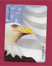 Eagle USA Flag playing card single swap JOKER - 1 card
