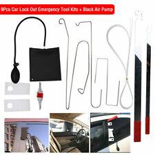 9pc Car Door Open Unlock Tool Kit Key Lock Out Emergency Opening Air Pump +Wedge